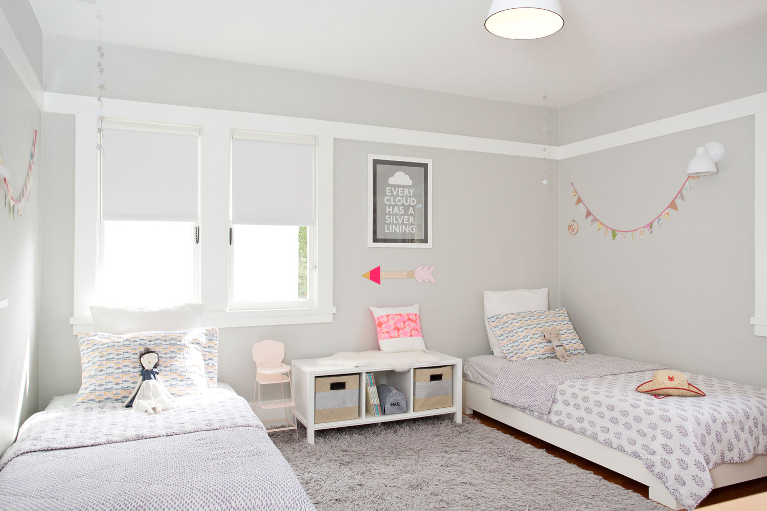 Styled and organized little girl's room